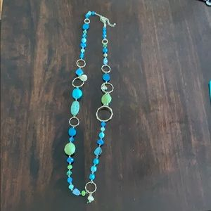 Blue and Green Seashell Necklace